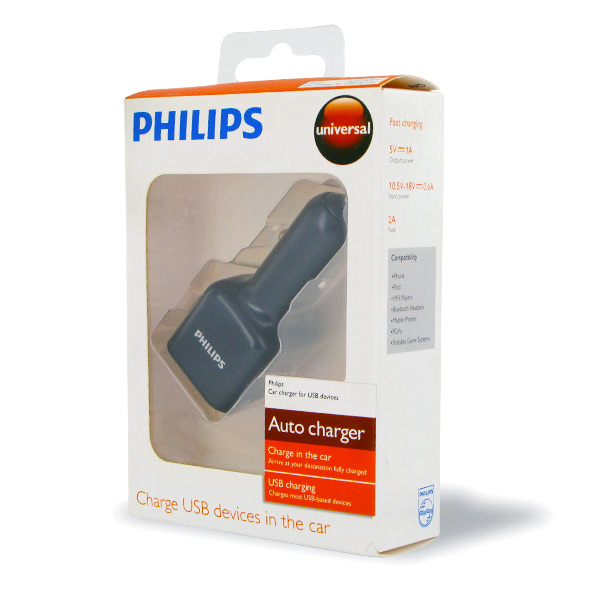Philips Universal USB Car Charger - DLA72004/17