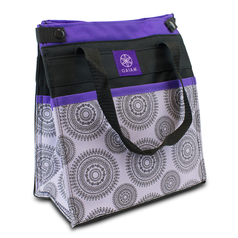 Gaiam Insulated Lunch Bag Tote Leak-Resistant (Purple Marrakesh)