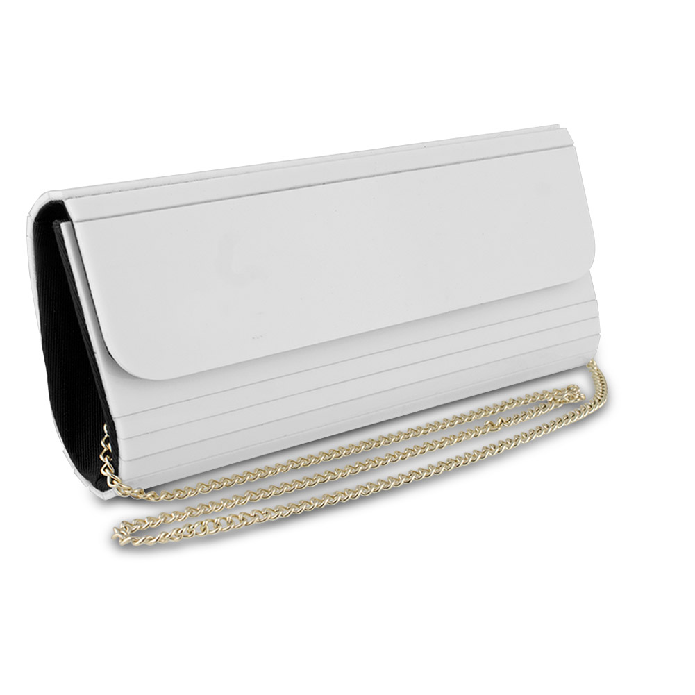 Mad Style Acrylic Elongated Clutch (White)