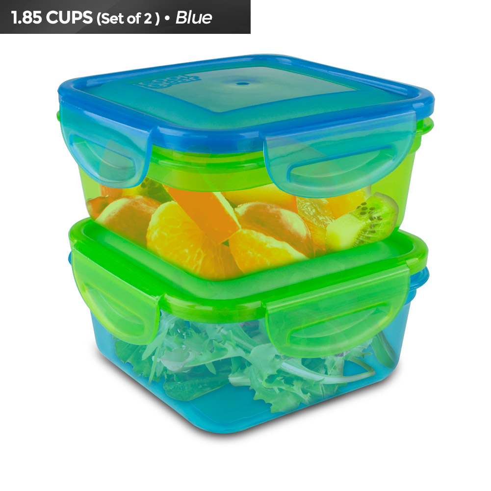 Cool Gear Expandable Air-Tight Food Container (2-Pack) - Green / Blue