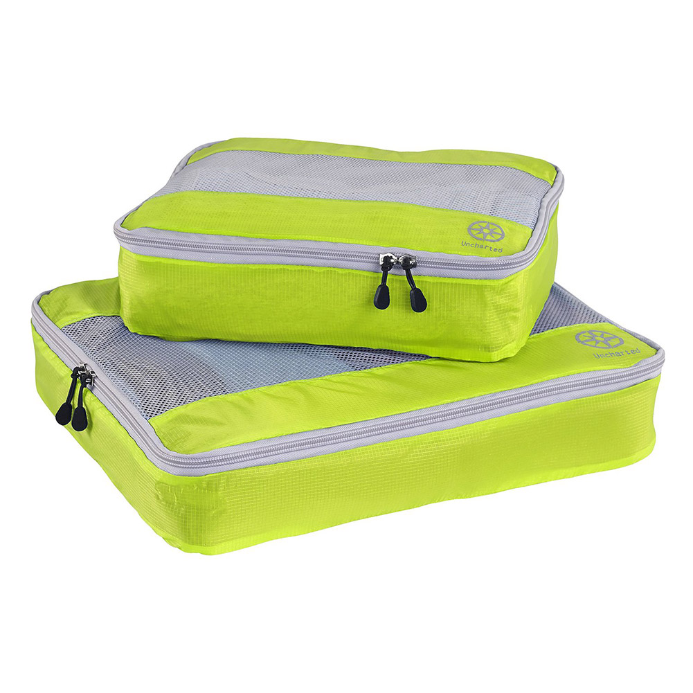 Uncharted Ultra-Lite Packing Cube 2 Piece Set (Neon Yellow)