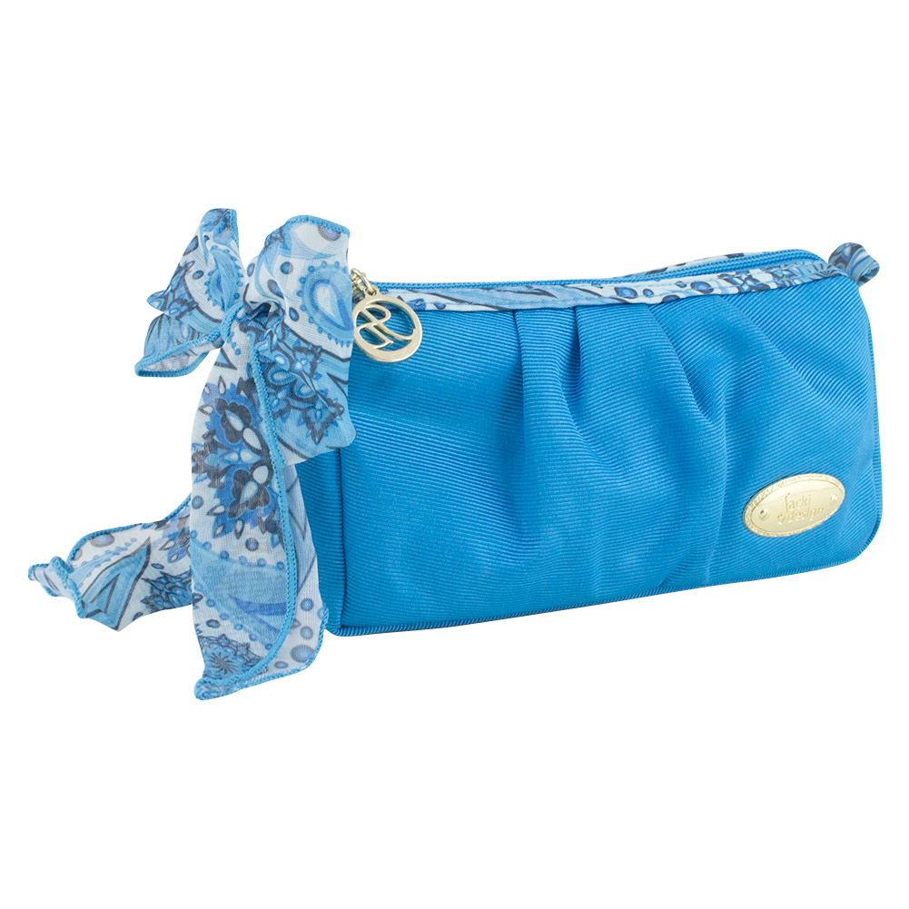 Jacki Design Summer Bliss Compact Cosmetic Bag (Blue)