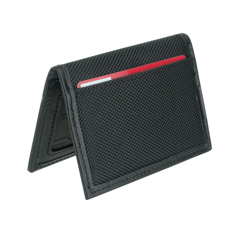 Travelon Hack-Proof RFID Blocking Bifold Card Holder Slim Wallet (Black)